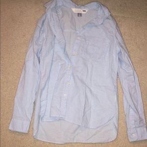 long sleeve button-down work shirt